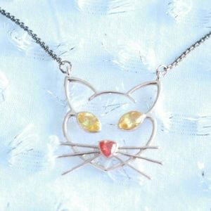 Betsey Johnson Cat Gold Necklace